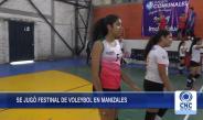 Laura Jaramillo, sobresalió en voleybol durante el Festinal de Manizales
