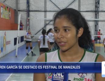 Karen García se destacó en Festinal de Manizales